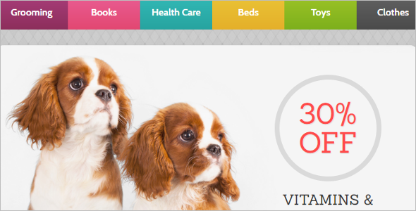Dog Store OpenCart Template