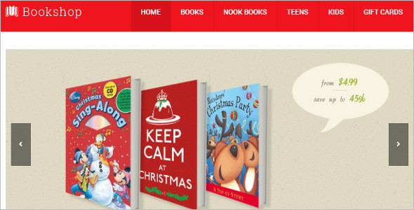 Download Bookstore Magento Template