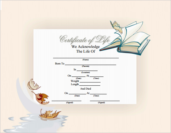 Download Death Certificate Template