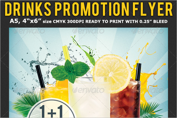 Drinks Advertising Flyer Template