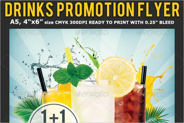 Drinks Advertising Flyer Template