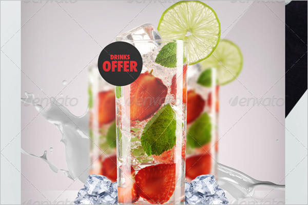 Drinks Promotion Ad Poster Design