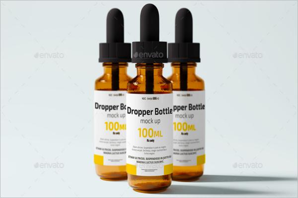 Dropper Mock-Up Design PSD