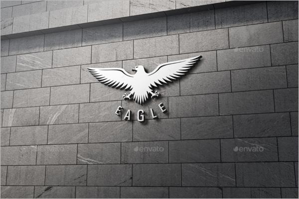 Eagle Wall Logo Mockup