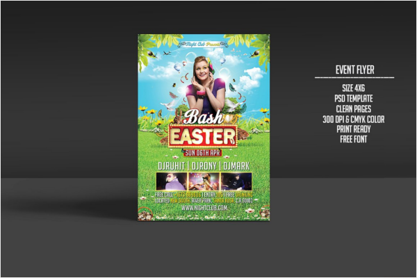 Easter Bash Party Poster Template