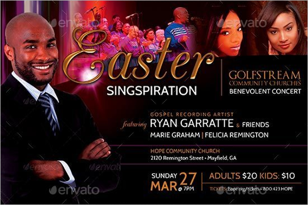 Easter Concert Flyer Template