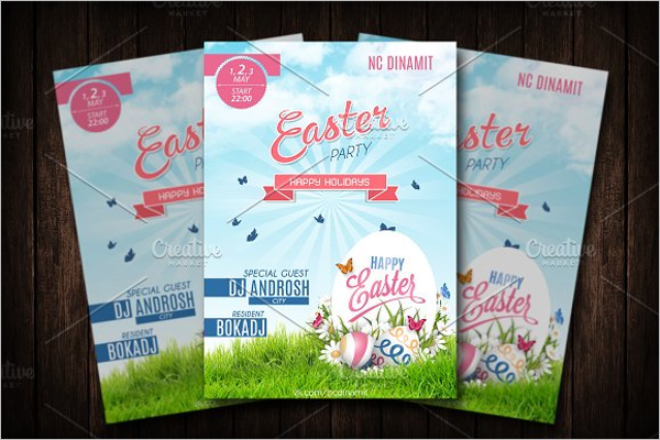 Easter Day Poster Template