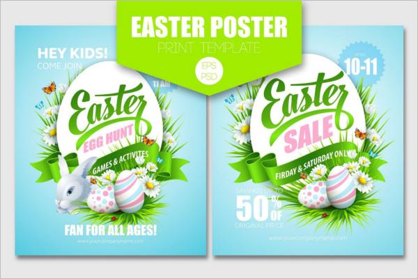 Easter Egg Vector Poster