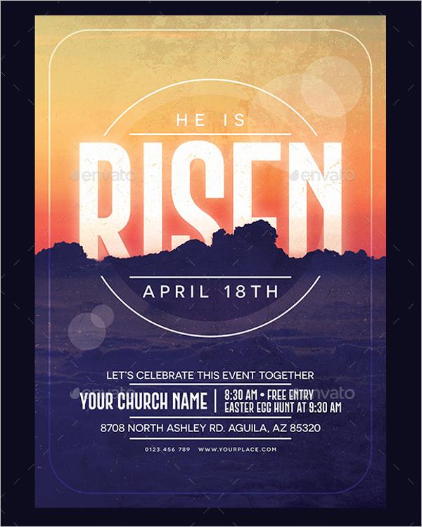 Easter Raffle Poster Design