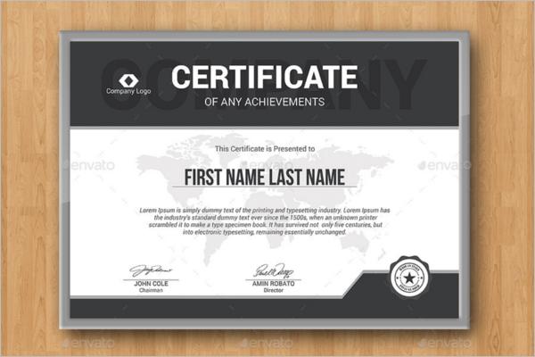 Editable Certificate Template