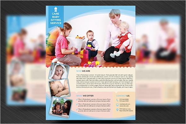 Editable Daycare Flyer Design