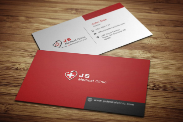 Editable Medical Business Card