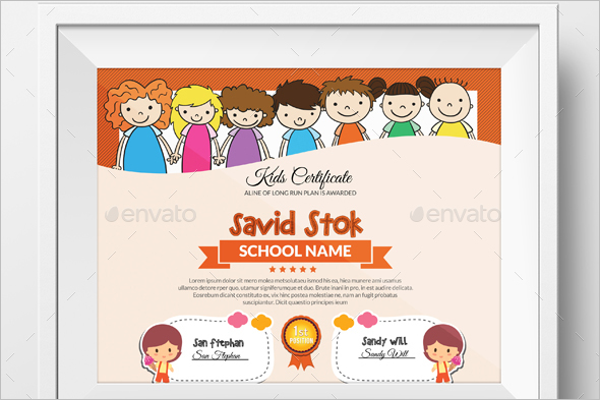 Education Certificate For Kids