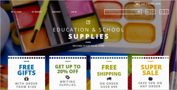 Eduction Supplies Magento Template