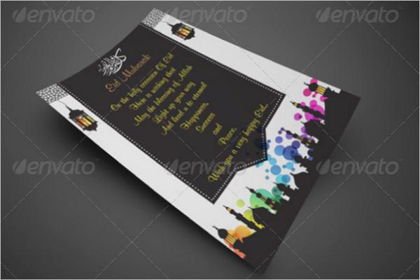 Eid Greeting Card Design