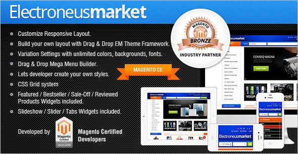 Electronics Market Magento Theme
