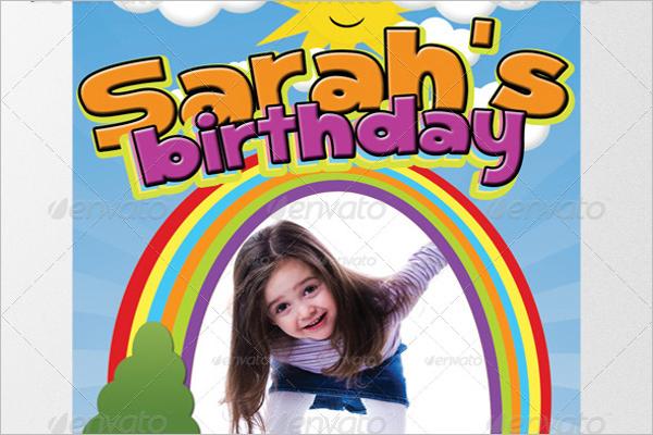 Elegant Birthday Poster Design