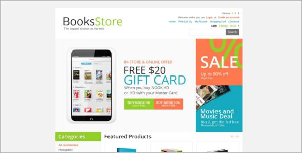 Elegant Book store OpenCart Template