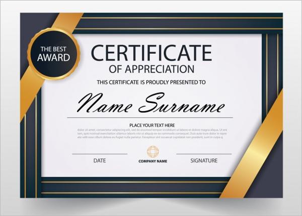 Business certificate templates free premium download elegant business certificate template wajeb Gallery