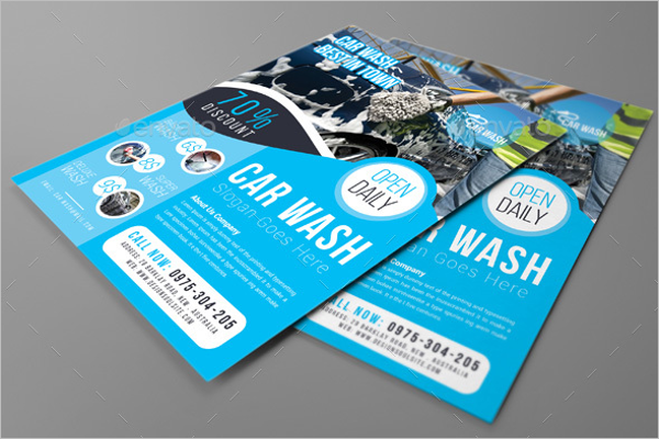 Elegant Car Wash Flyer