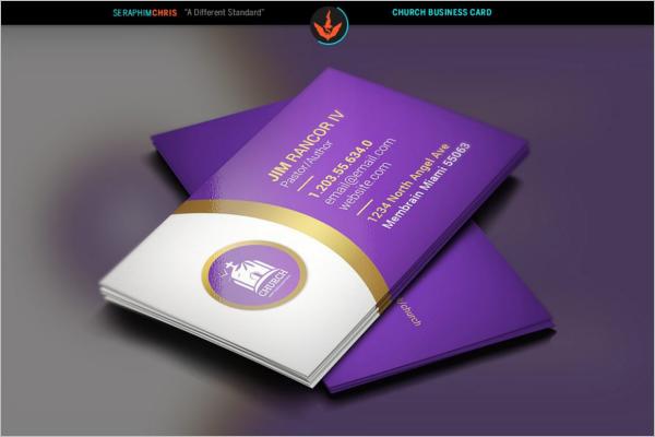 Elegant Church Business Card Template