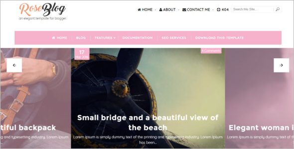 Elegant Free Blog Template