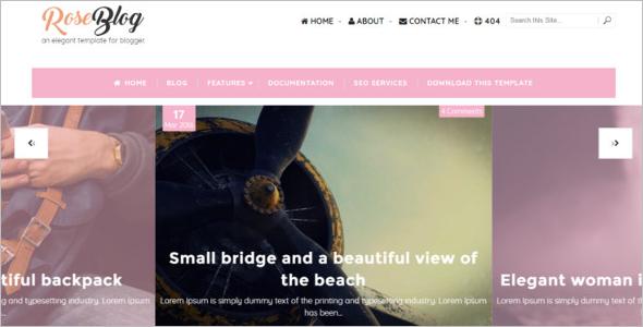 Elegant Free Blog Template