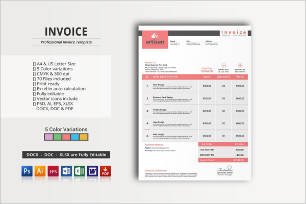 Elegant Invoice Proposal Template