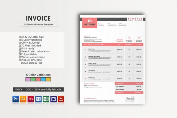proposal invoice print templates free premium templates. Black Bedroom Furniture Sets. Home Design Ideas