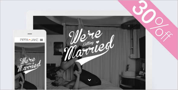 Elegant New Wedding HTML Template