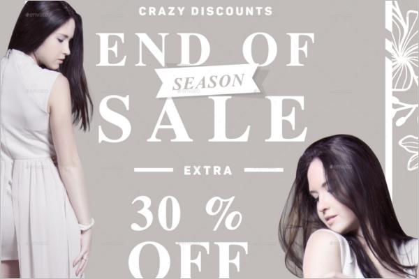 End Season Sale Poster