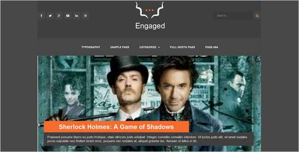 Engaged Free Blog Template