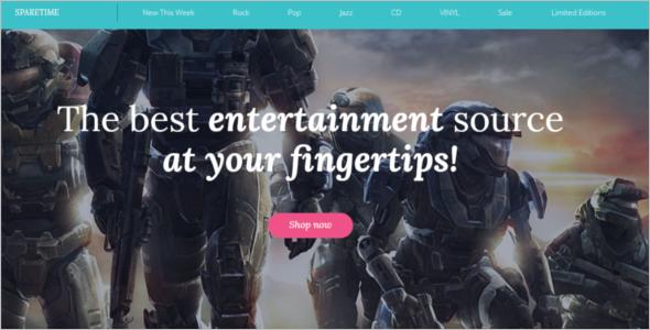 Enterainment Games OpenCart Template