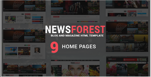 Entertainment News Blog Magazine Template