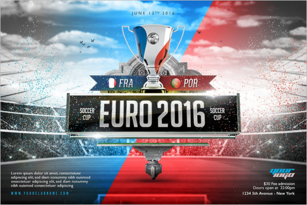 Euro Tournament Flyer Template