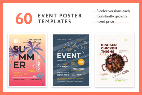 Event Advertisement Poster Design  Advertising Poster Templates