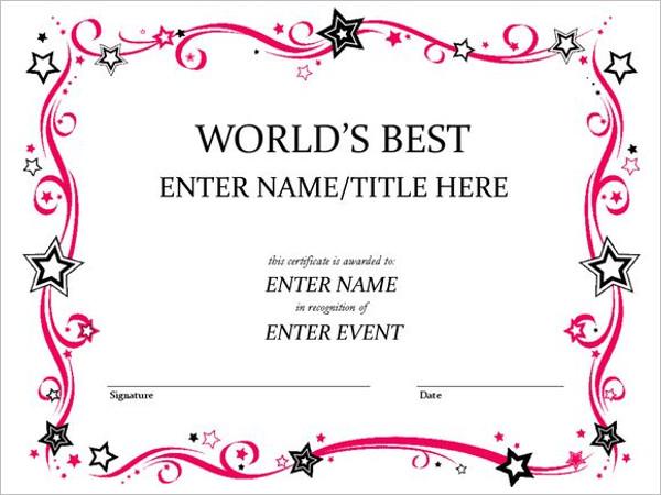 Event Certificate Template