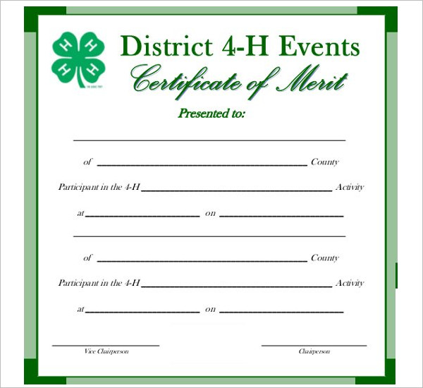 Event Certificate Template