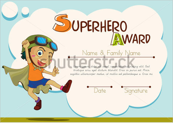 Example Certificate For Kids