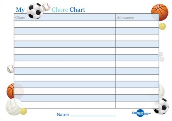 Excel Reward Chart Template