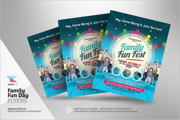 Family Summer Camp Flyer