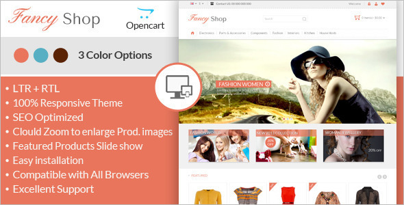 Fancy Jewelry Opencart Template
