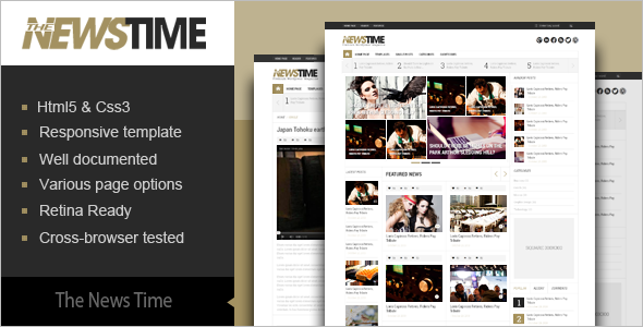 Fashion News Blog Magazine Template