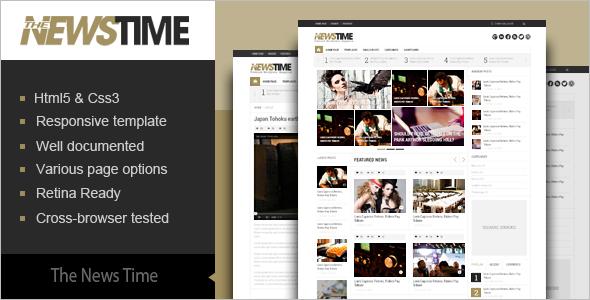Fashion News Blog Magazine Template