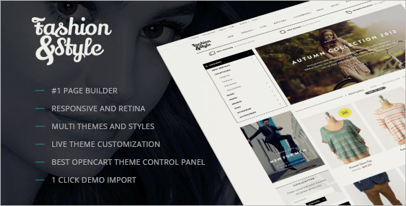 Fashion Responsive Opencart Theme