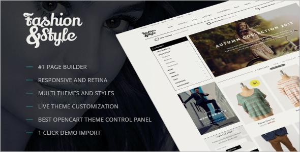 Fashion Responsive Opencart Theme