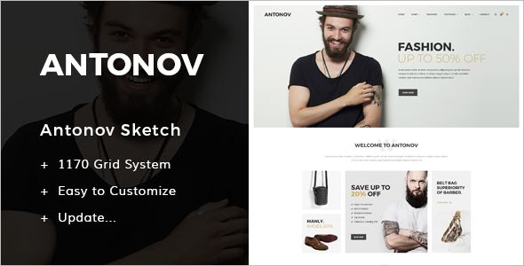 Fashion Skewtch PSD Template