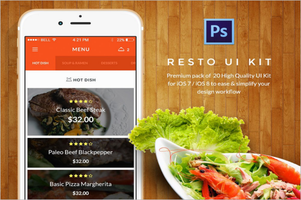 Fast Food Restaurant UI Design