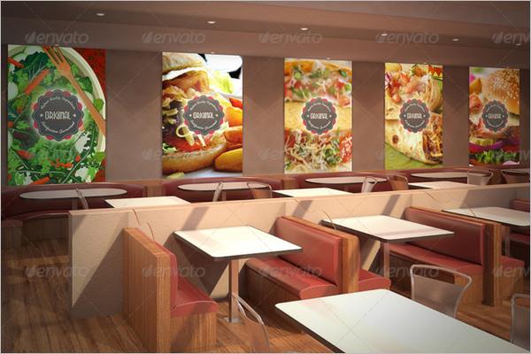 Fast Food Wall Logo Mockup