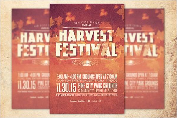 Festival Church Flyer PSD